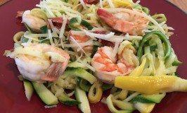 Low Carb, Super Easy Shrimp Scampi